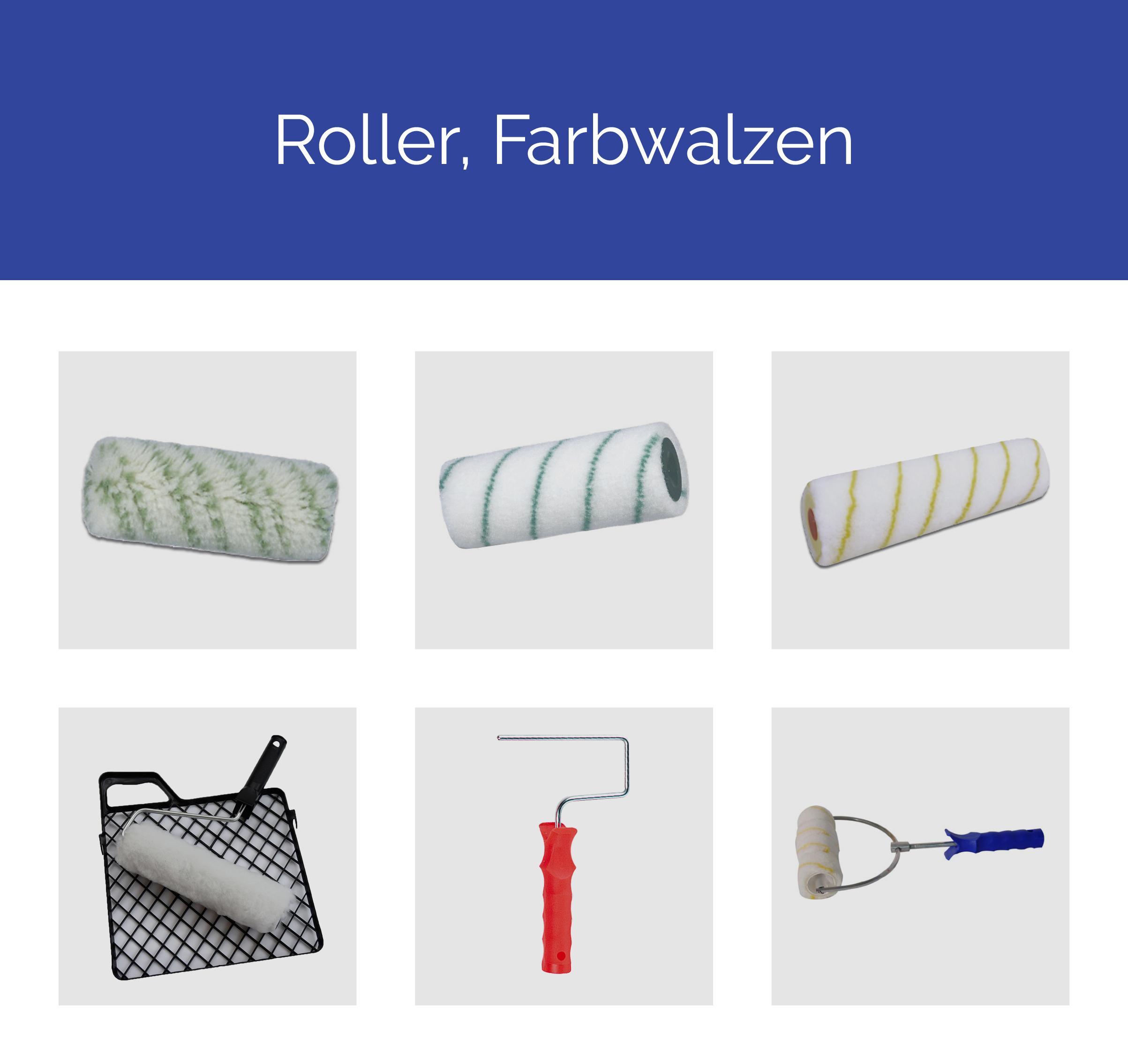 Roller, Farbwalzen
